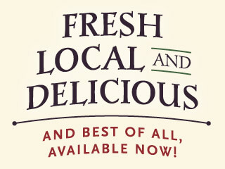 Fresh, local and delicious vegetables since 1996, available now!
