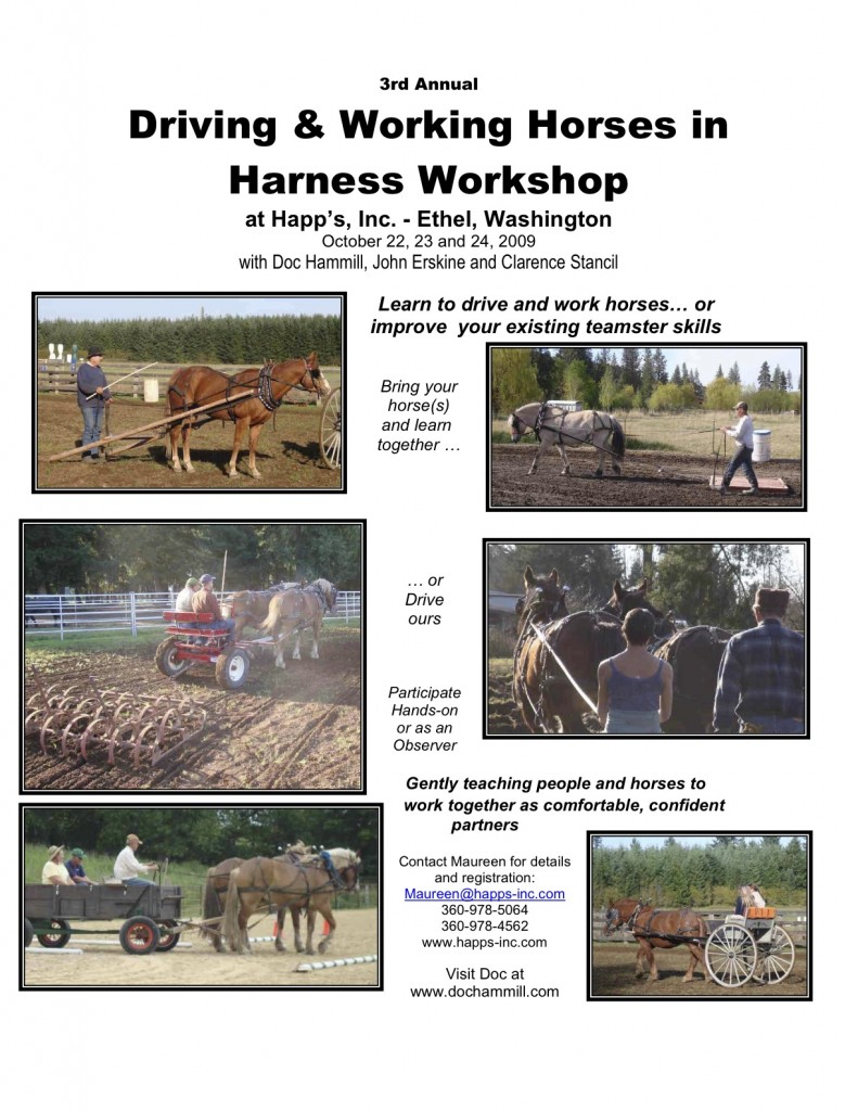 Happ's Workshop flyer