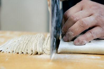 A soba master makes noodles on Sado Island, Japan