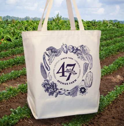 47th Avenue Farm's spiffy produce tote!